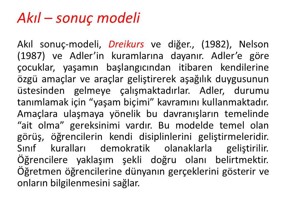 Akıl – sonuç modeli