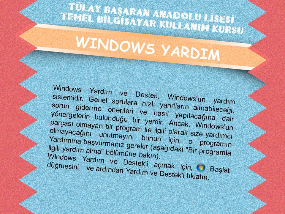WINDOWS YARDIM