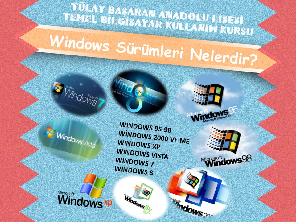 Windows Sürümleri Nelerdir