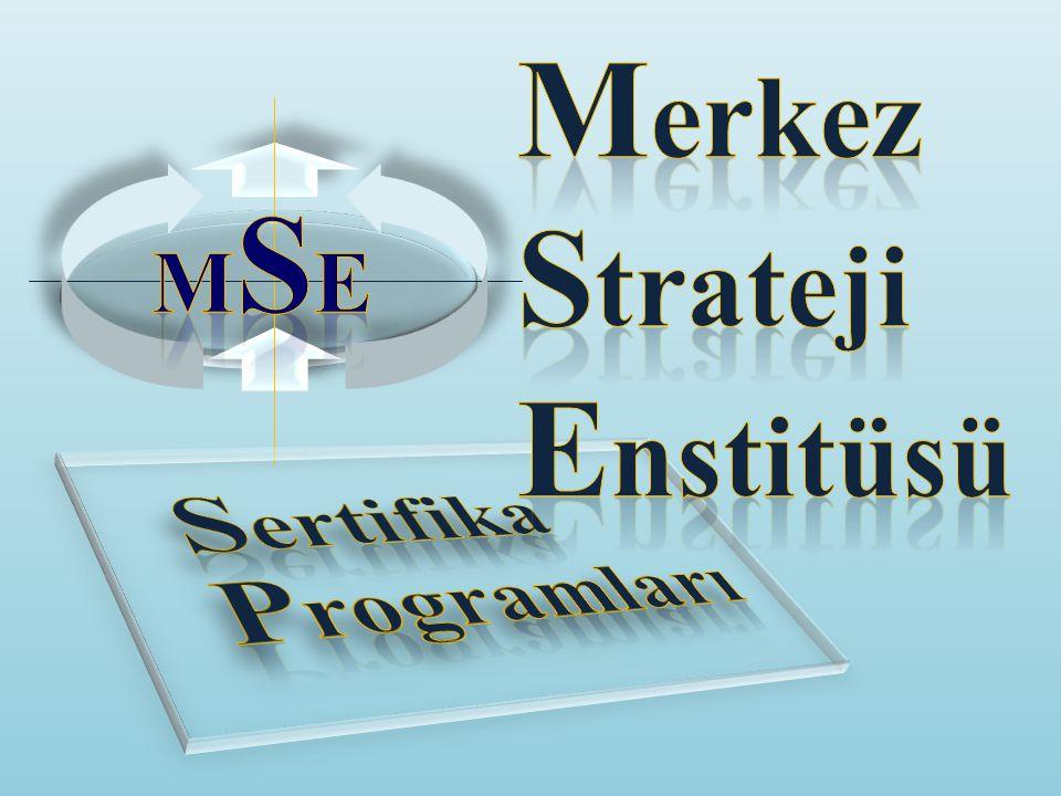 Merkez Strateji Enstitüsü MSE Sertifika Programları