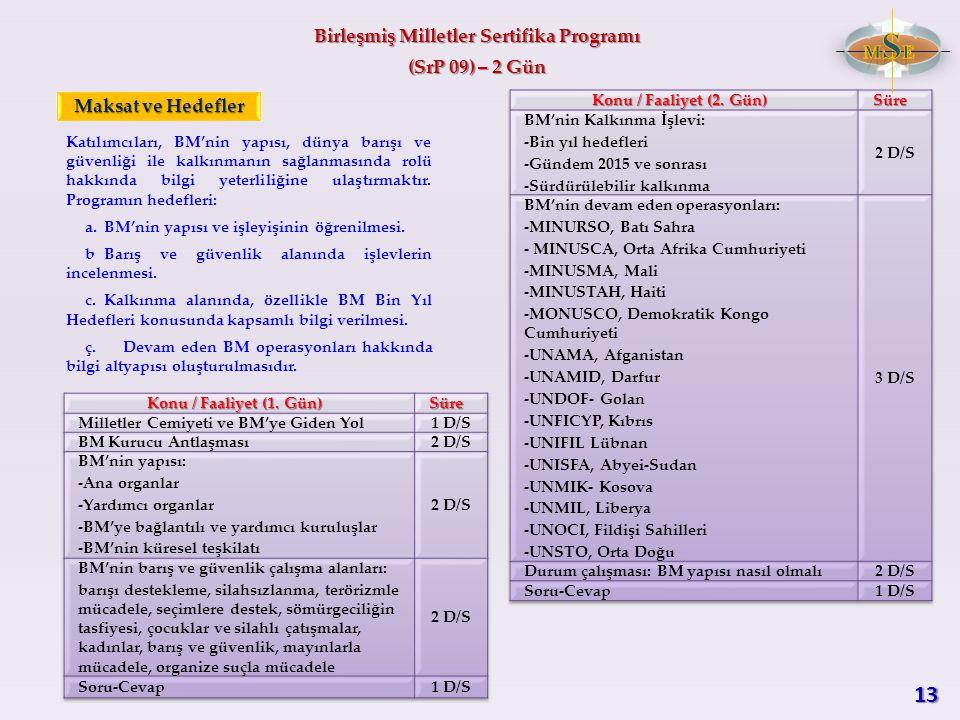 Birleşmiş Milletler Sertifika Programı