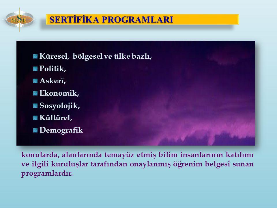 SERTİFİKA PROGRAMLARI