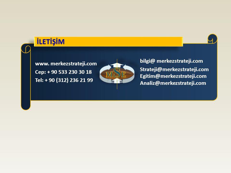 İLETİŞİM MSE bilgi@ merkezstrateji.com www. merkezstrateji.com