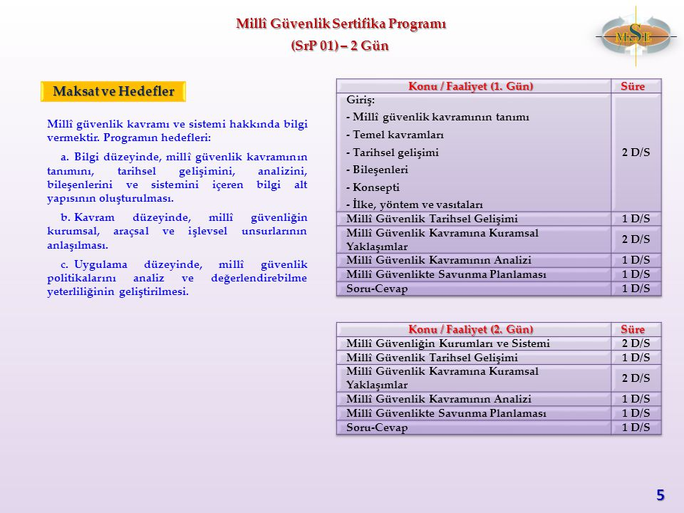 Millî Güvenlik Sertifika Programı