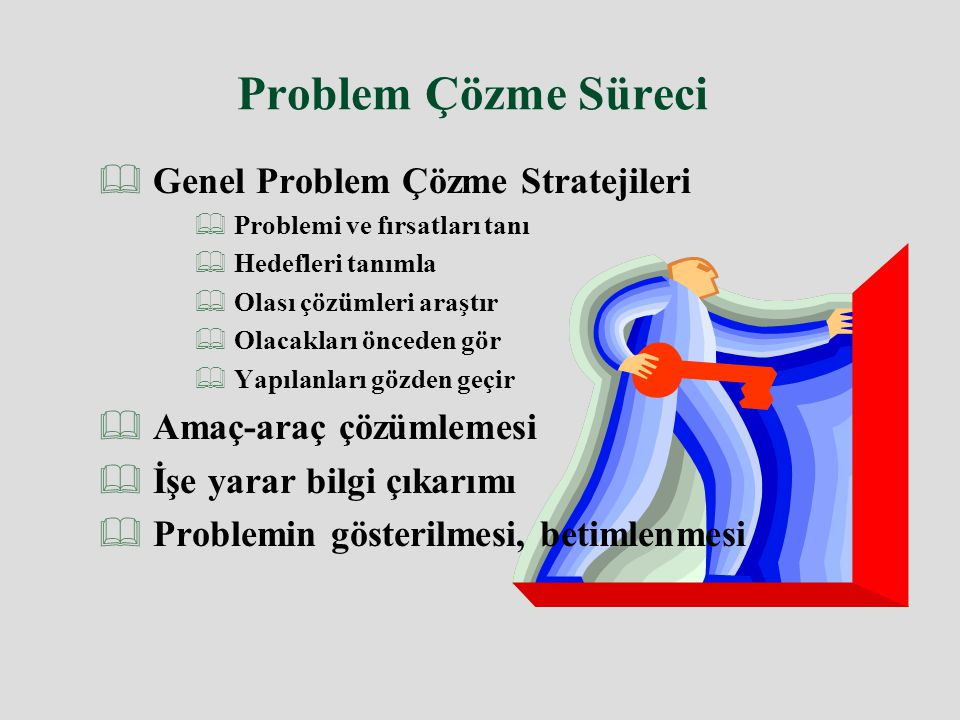 Problem Çözme Süreci Genel Problem Çözme Stratejileri