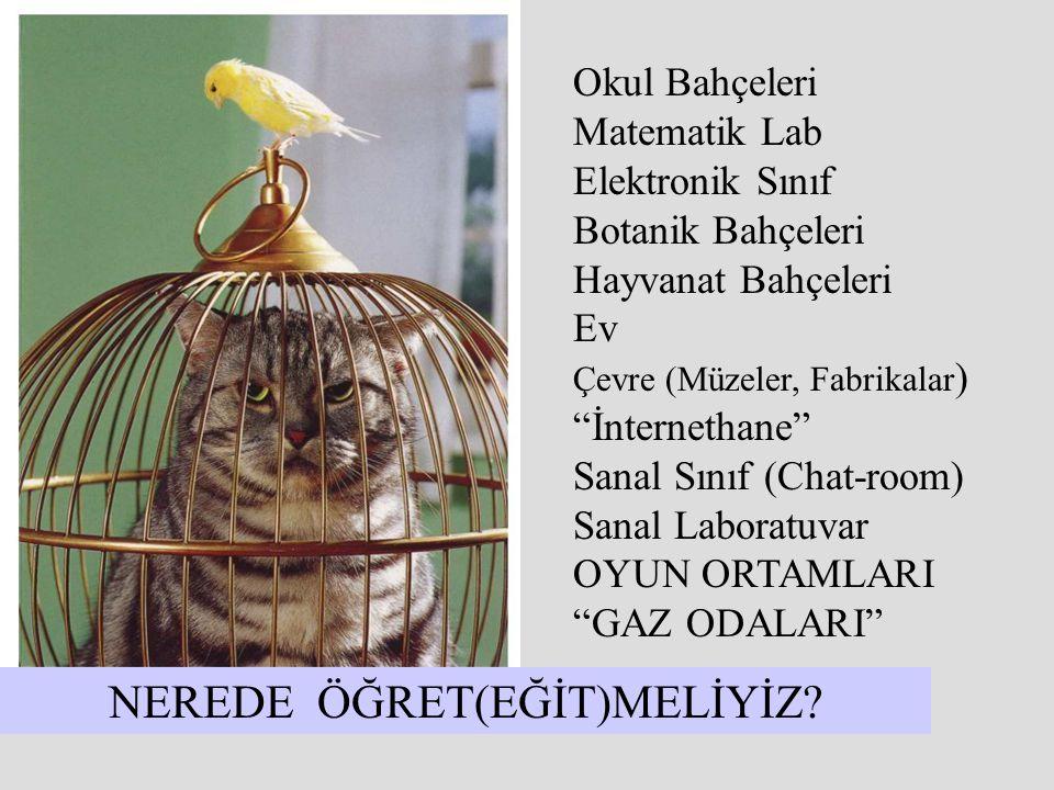 NEREDE ÖĞRET(EĞİT)MELİYİZ