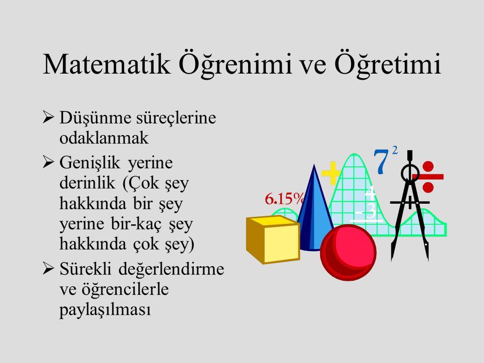 Matematik Öğrenimi ve Öğretimi