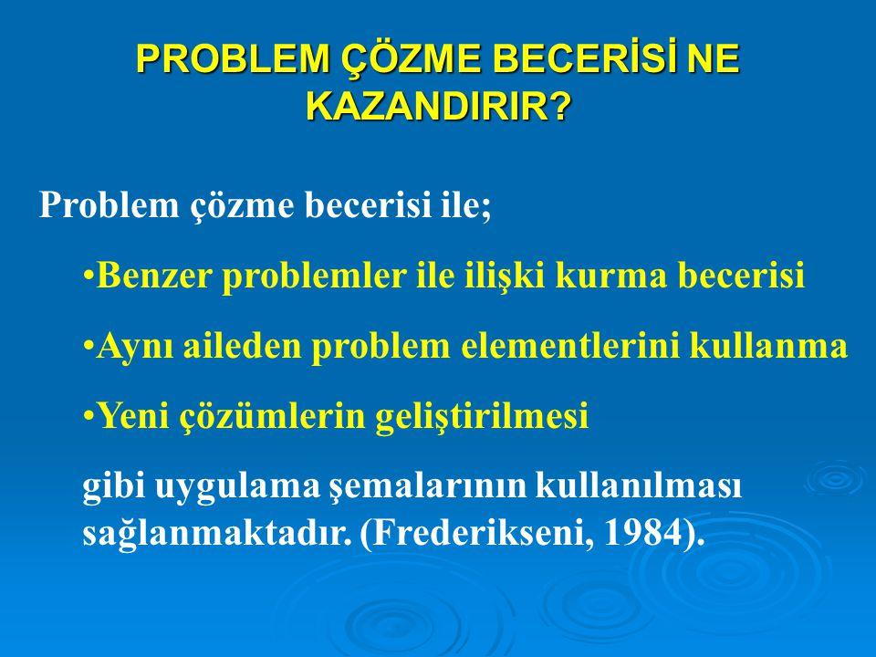 PROBLEM ÇÖZME BECERİSİ NE KAZANDIRIR