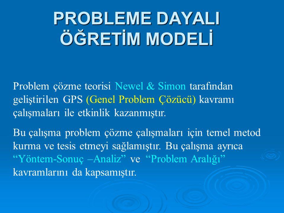 PROBLEME DAYALI ÖĞRETİM MODELİ