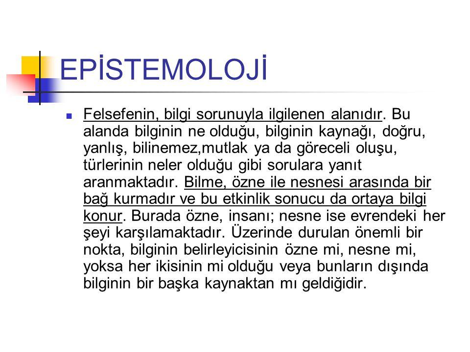 EPİSTEMOLOJİ