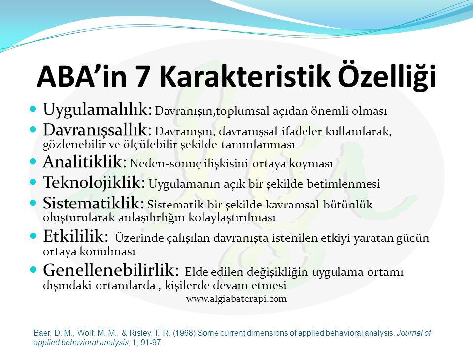 ABA'in 7 Karakteristik Özelliği