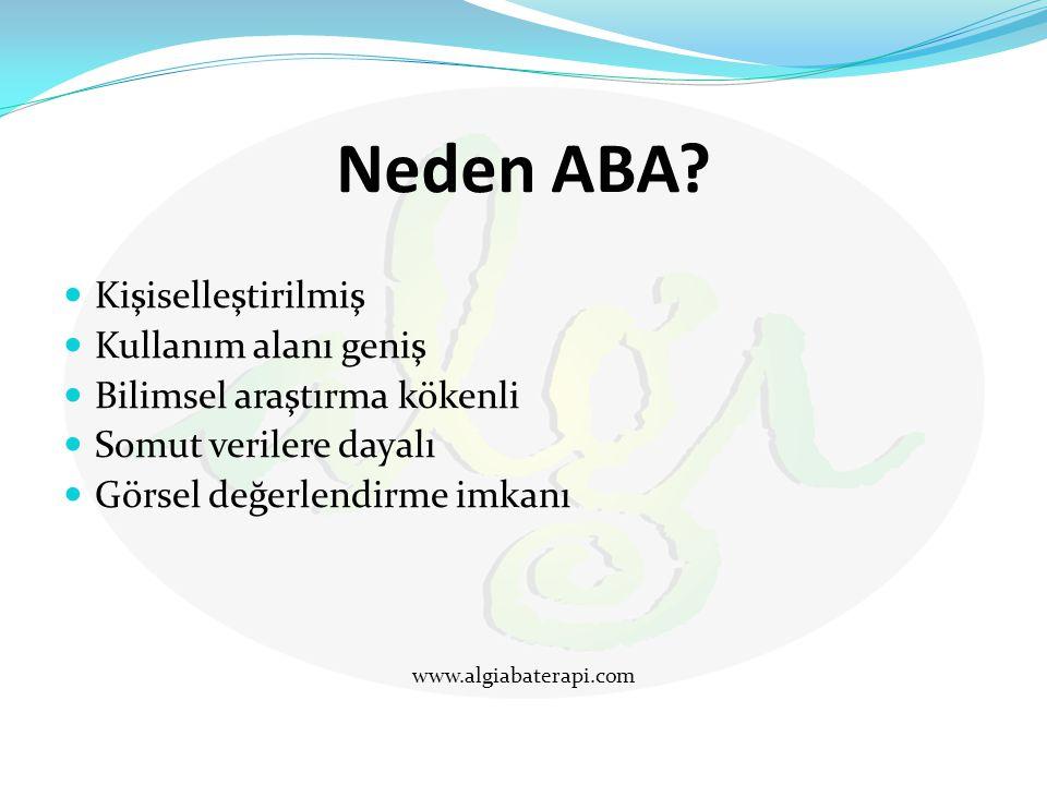 Neden ABA Kişiselleştirilmiş Kullanım alanı geniş