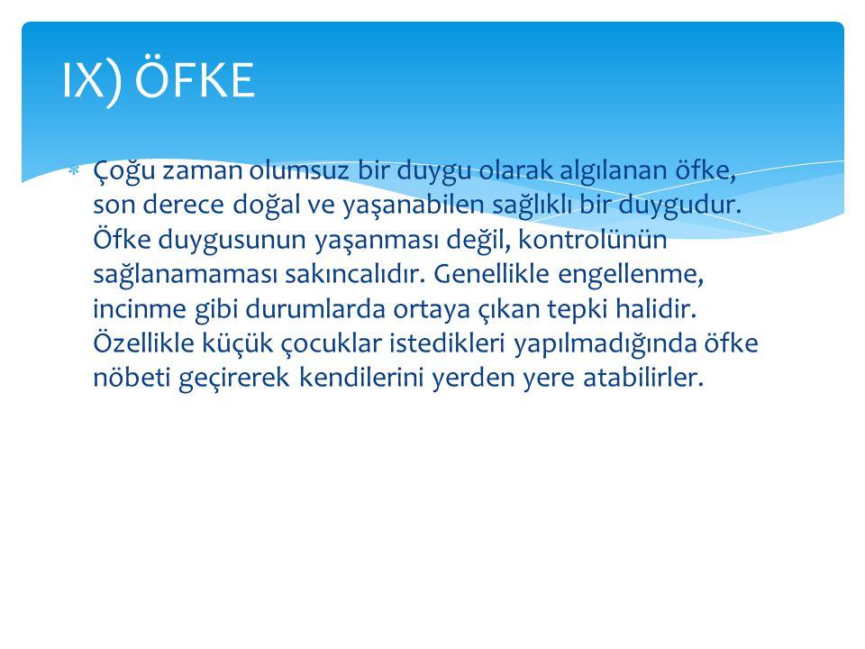 IX) ÖFKE
