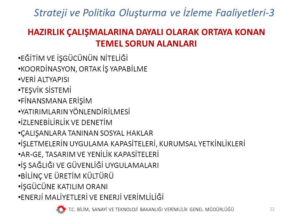 Strateji ve Politika Oluşturma ve İzleme Faaliyetleri-3