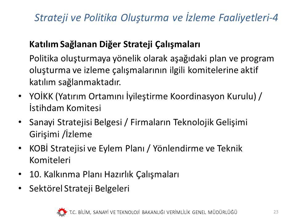 Strateji ve Politika Oluşturma ve İzleme Faaliyetleri-4