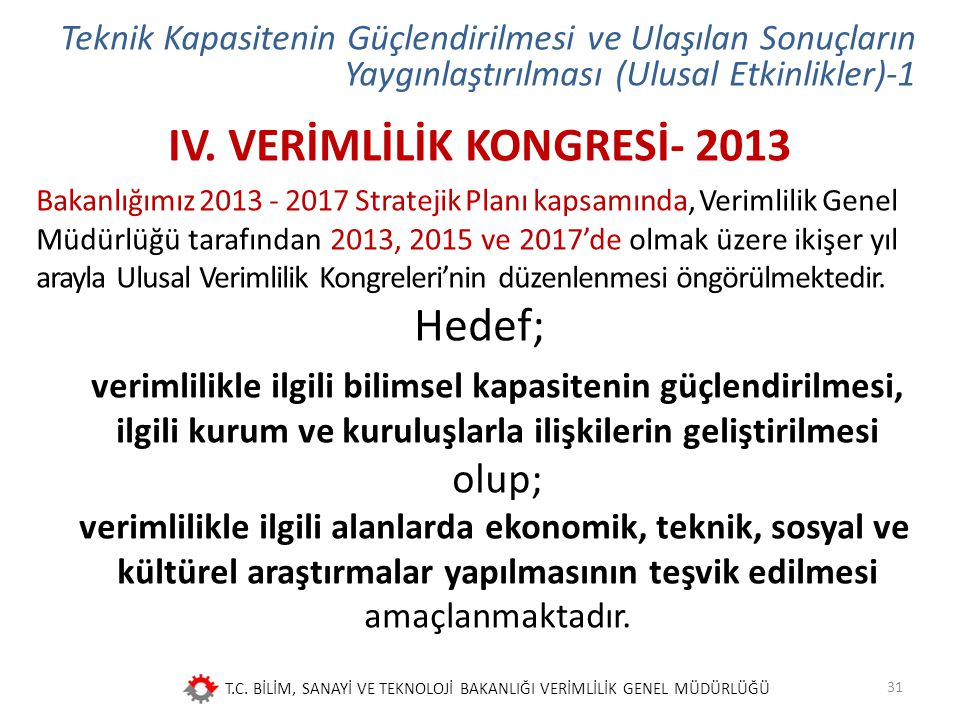 IV. VERİMLİLİK KONGRESİ- 2013