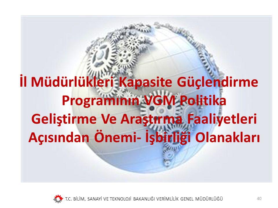 İl Müdürlükleri Kapasite Güçlendirme Programının VGM Politika Geliştirme Ve Araştırma Faaliyetleri Açısından Önemi- İşbirliği Olanakları