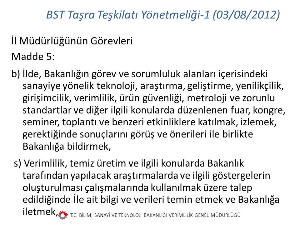 BST Taşra Teşkilatı Yönetmeliği-1 (03/08/2012)