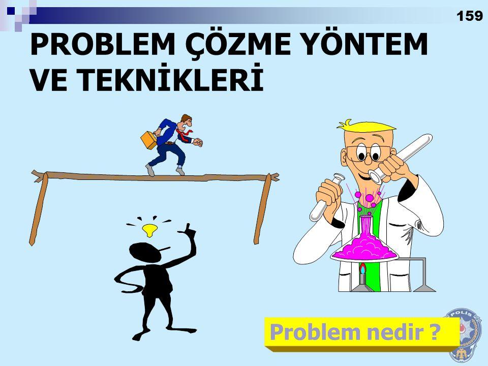 PROBLEM ÇÖZME YÖNTEM VE TEKNİKLERİ