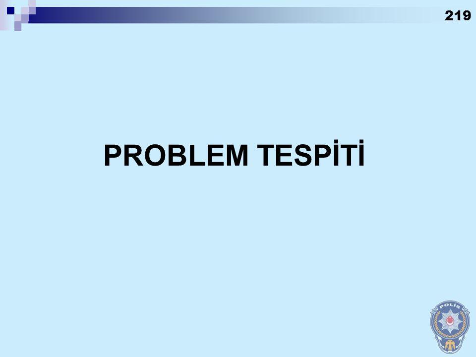 PROBLEM TESPİTİ