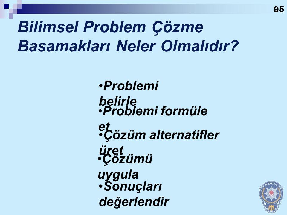 Bilimsel Problem Çözme Basamakları Neler Olmalıdır