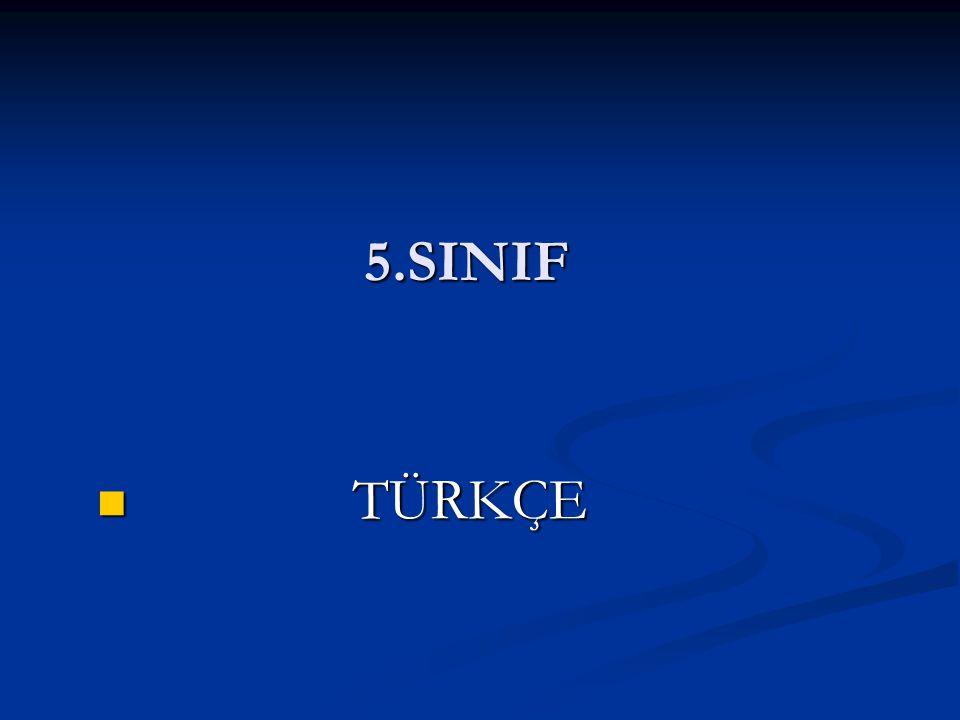 5.SINIF TÜRKÇE