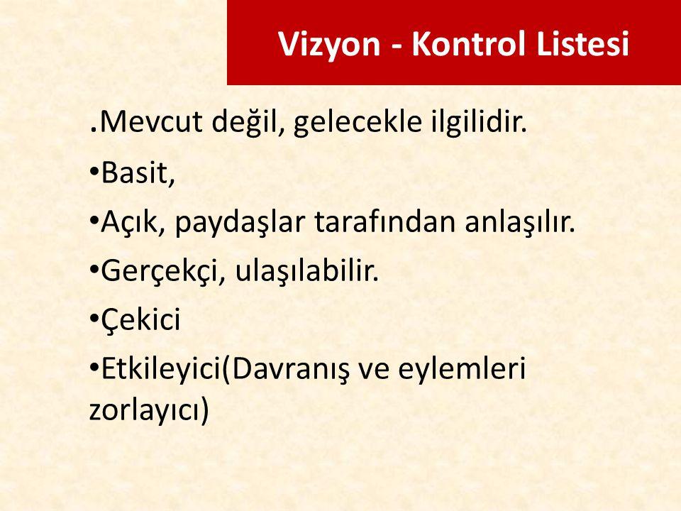 Vizyon - Kontrol Listesi