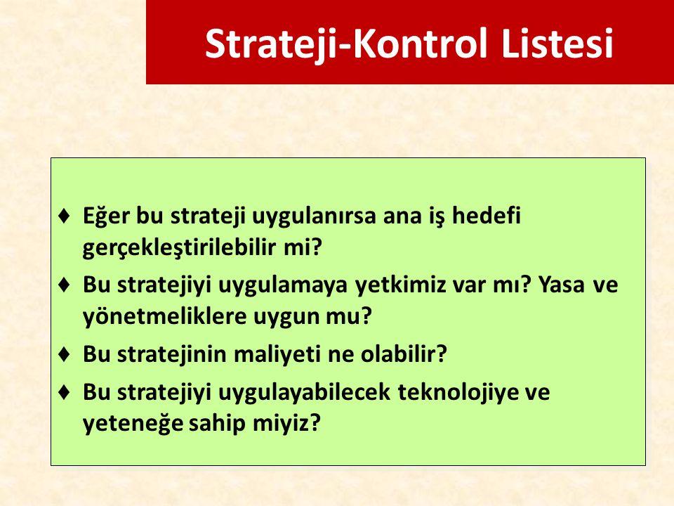 Strateji-Kontrol Listesi