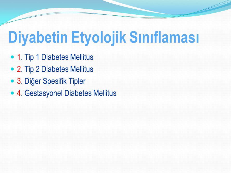 Diyabetin Etyolojik Sınıflaması