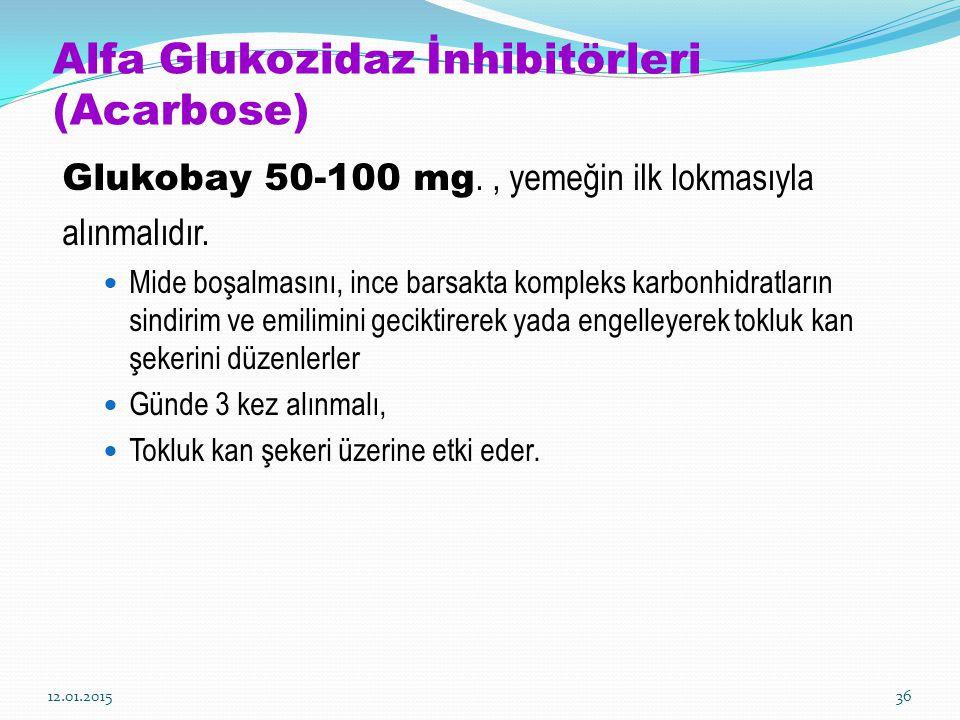 Alfa Glukozidaz İnhibitörleri (Acarbose)
