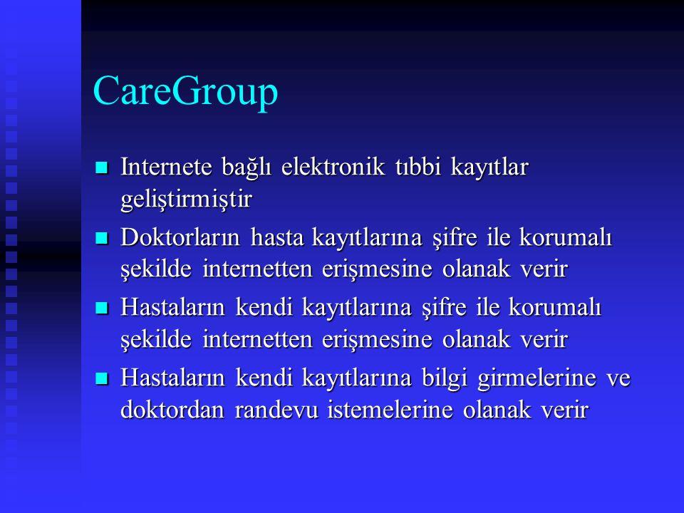 CareGroup Internete bağlı elektronik tıbbi kayıtlar geliştirmiştir