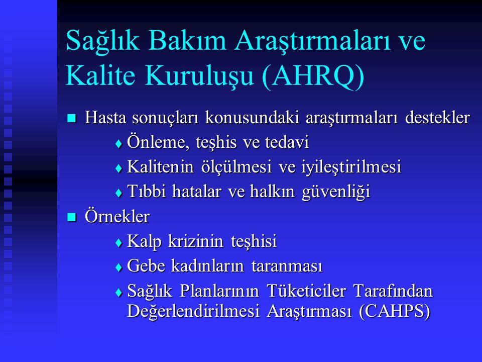Sağlık Bakım Araştırmaları ve Kalite Kuruluşu (AHRQ)