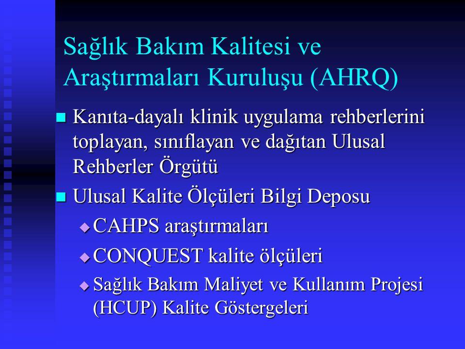 Sağlık Bakım Kalitesi ve Araştırmaları Kuruluşu (AHRQ)