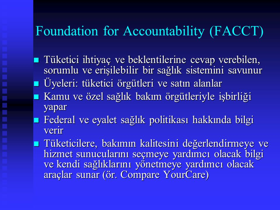 Foundation for Accountability (FACCT)
