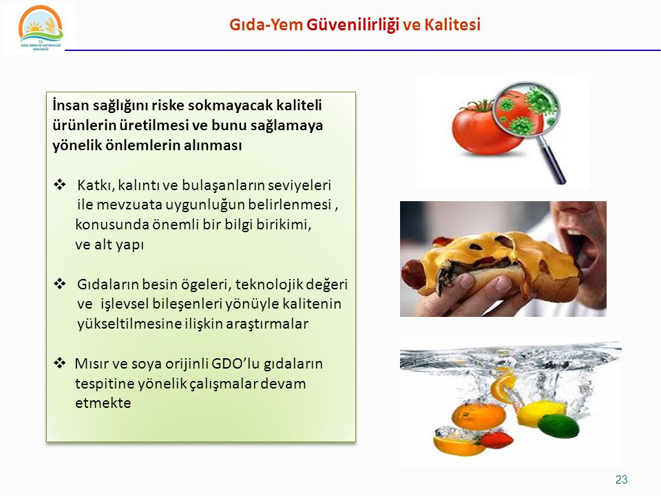 Gıda-Yem Güvenilirliği ve Kalitesi