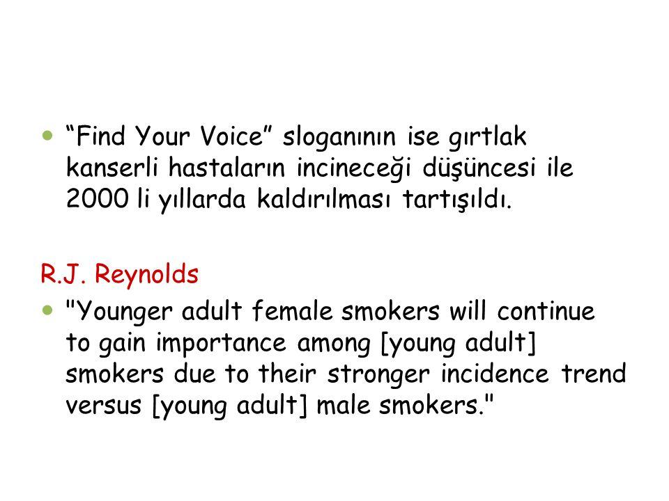 Find Your Voice sloganının ise gırtlak kanserli hastaların incineceği düşüncesi ile 2000 li yıllarda kaldırılması tartışıldı.