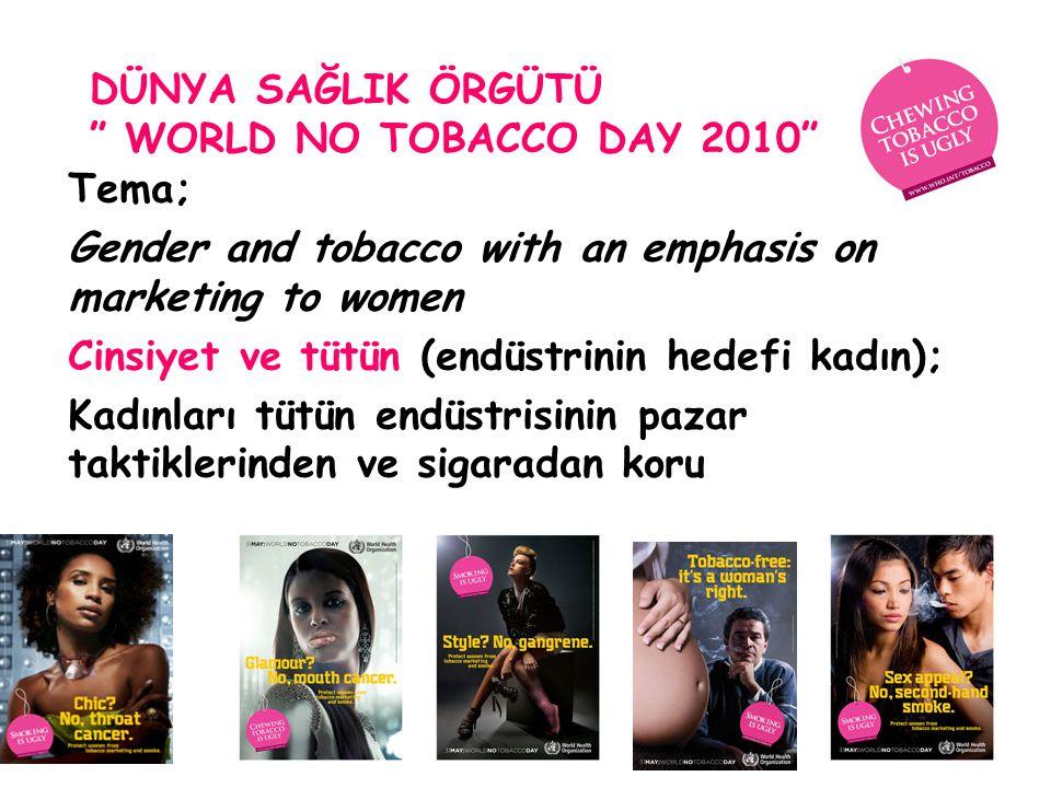 Dünya SağlIk Örgütü World No Tobacco Day 2010