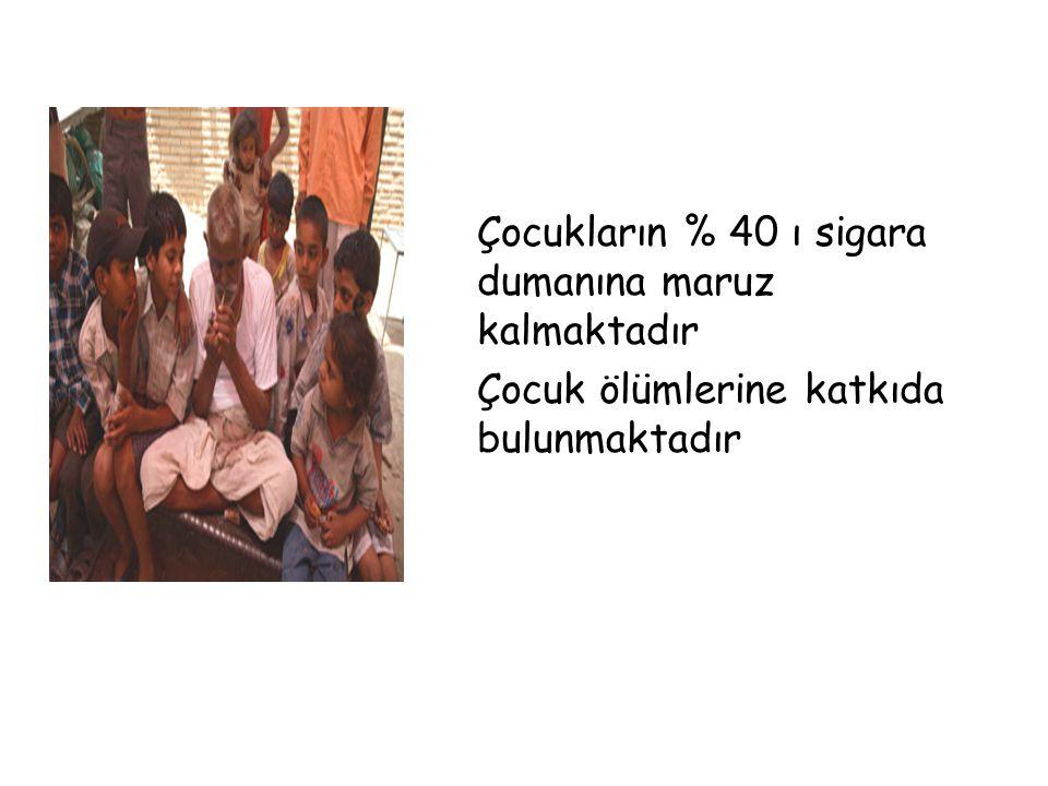 Çocukların % 40 ı sigara dumanına maruz kalmaktadır