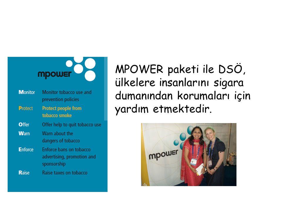 MPOWER paketi ile DSÖ, ülkelere insanlarını sigara dumanından korumaları için yardım etmektedir.