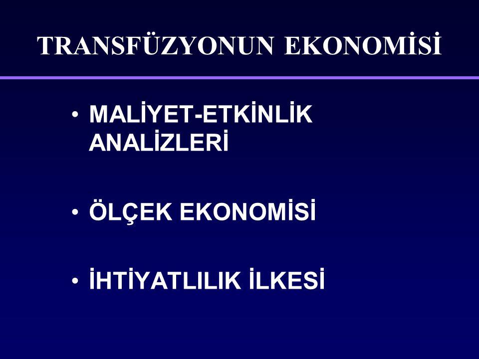 TRANSFÜZYONUN EKONOMİSİ