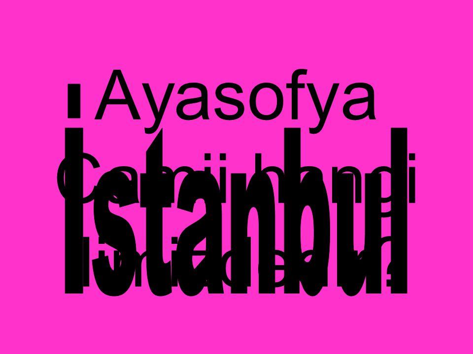Ayasofya Camii hangi ilimizdedir