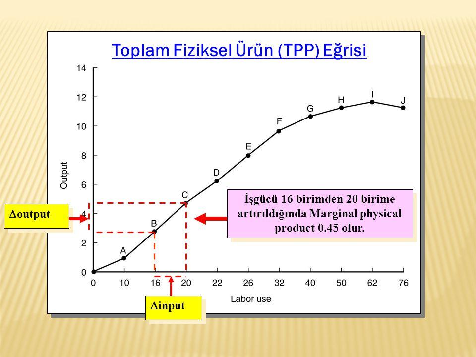 Toplam Fiziksel Ürün (TPP) Eğrisi