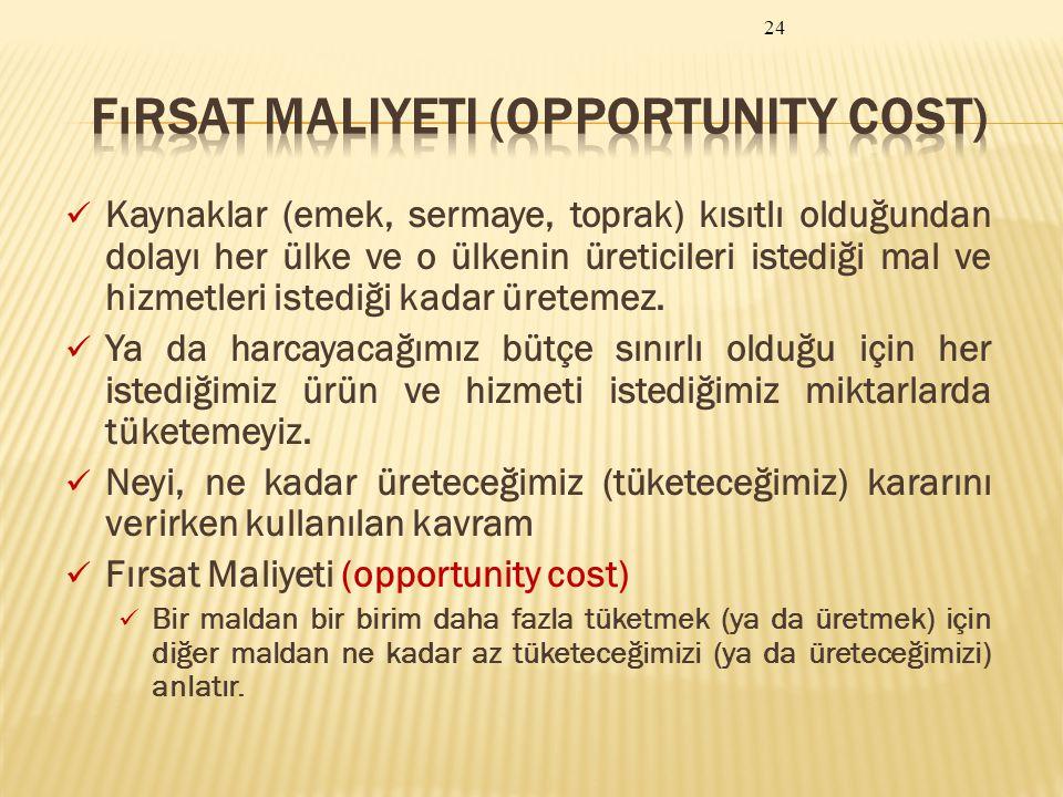 Fırsat Maliyeti (Opportunity Cost)