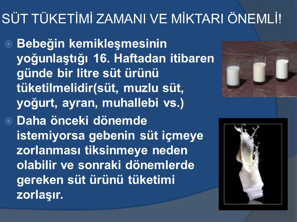 SÜT TÜKETİMİ ZAMANI VE MİKTARI ÖNEMLİ!