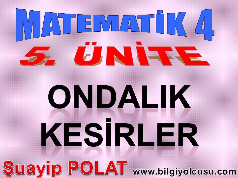 ONDALIK KESİRLER Şuayip POLAT MATEMATİK 4 5. ÜNİTE