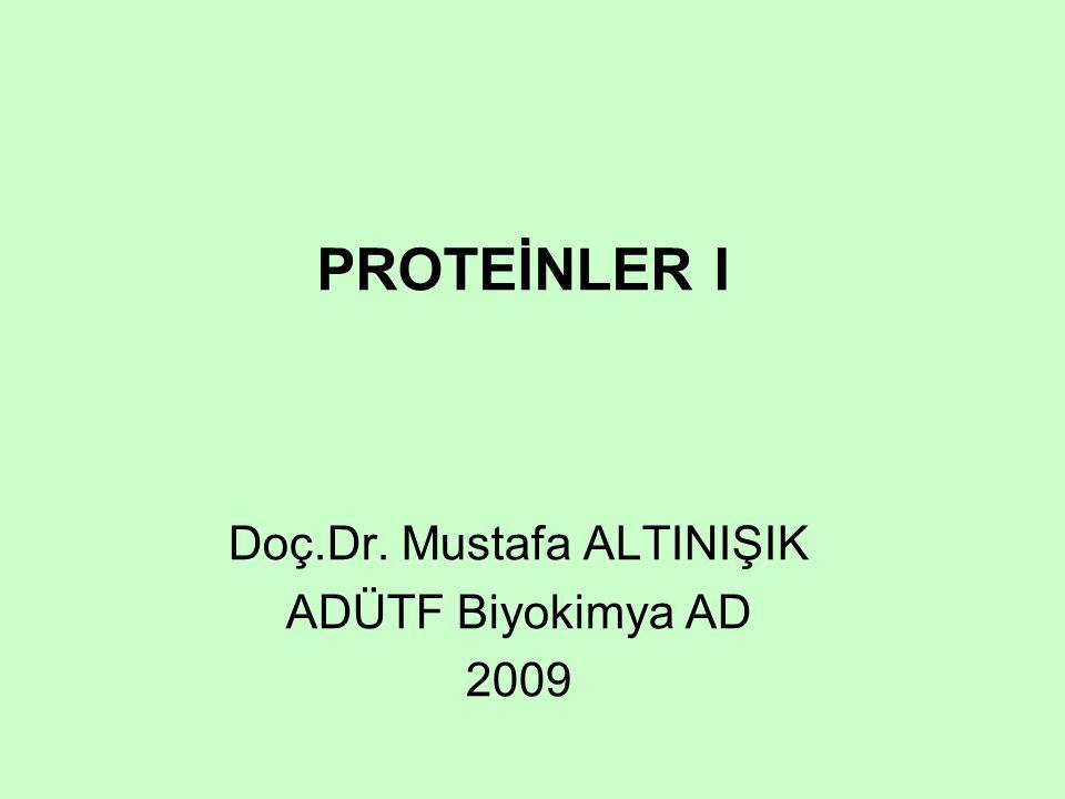 Doç.Dr. Mustafa ALTINIŞIK ADÜTF Biyokimya AD 2009