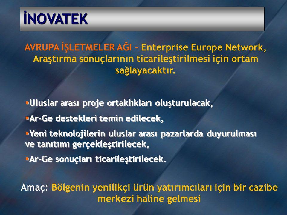 İNOVATEK AVRUPA İŞLETMELER AĞI – Enterprise Europe Network, Araştırma sonuçlarının ticarileştirilmesi için ortam sağlayacaktır.