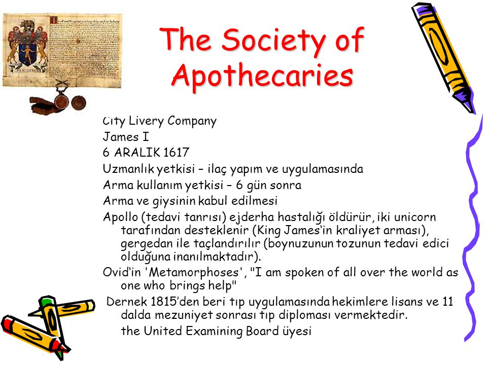 The Society of Apothecaries