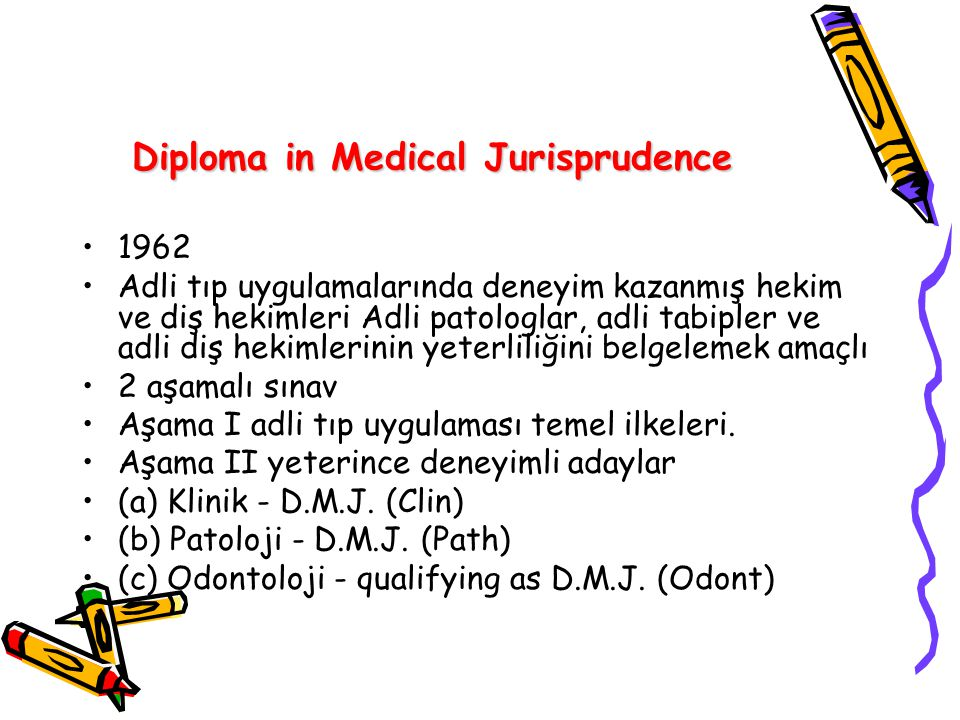 Diploma in Medical Jurisprudence
