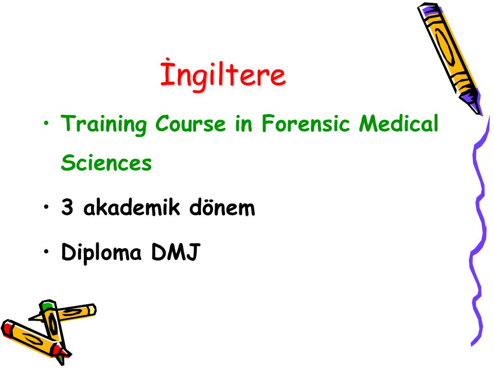 İngiltere Training Course in Forensic Medical Sciences